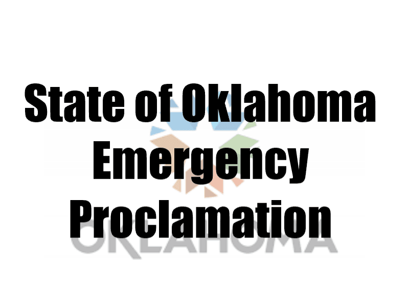 State of Oklahoma Emergency Proclamation